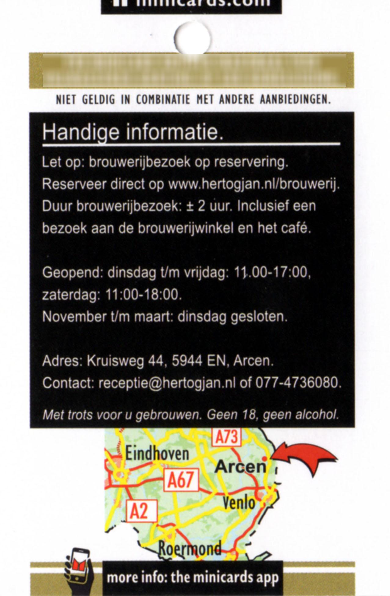 Hertog Jan info